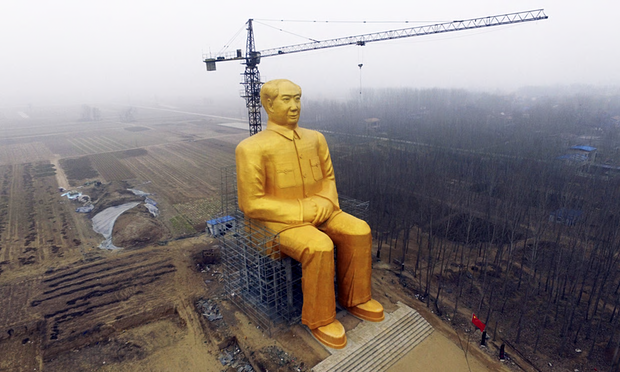 全身金色の毛沢東巨大像を建設中!!毛沢東はついに神的存在になってしまったのか!