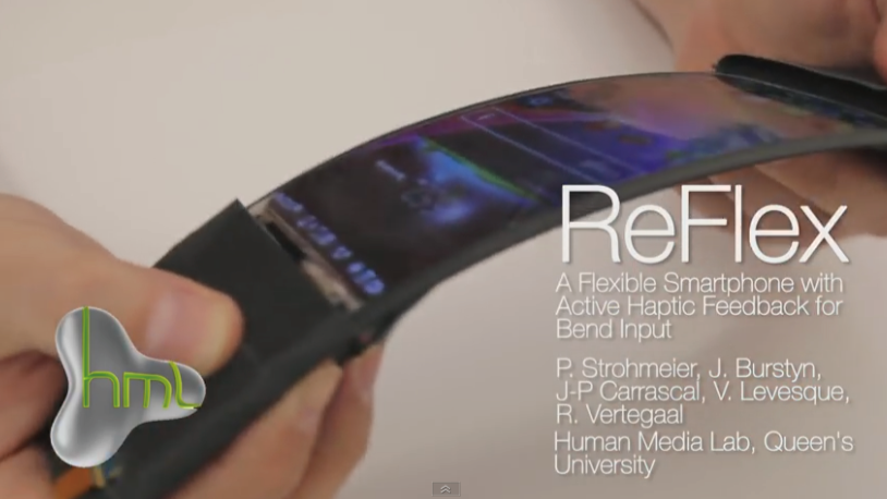 世界で初めて曲げれるスマホ「ReFlex」が開発された!