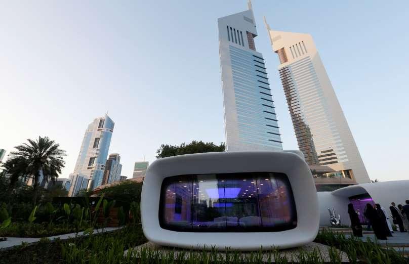 ドバイで世界初めて3Dプリンターによって造られたオフィスが公開!